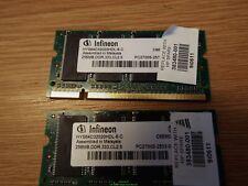 Infineon laptop ram - PAIR OF 256MB DDR,333,CL2.5 - PC2700S - HYS64D32020HDL-6-C