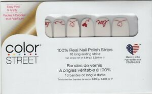 CS Nail Color Strips Love Letter Valentines 100% Nail Polish- USA Made!