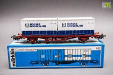 H0 Märklin 4772 - Containerwagen Norske Godslinjer //2J_137
