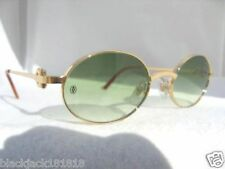 NEW CARTIER GOLD OVAL SUNGLASSES SPI29718 FRANCE AUTHENTIC