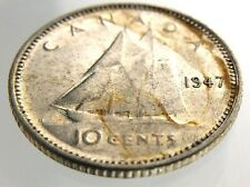 1947 Canada 10 Cents Dime Circulated George VI Ten Cent Coin R534