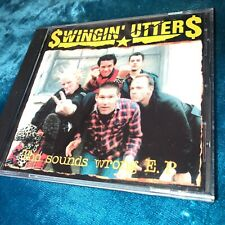 1999 SWINGIN' UTTERS SOUNDS WRONG EP PROMO CD FAT WRECK CHORDS PUNK HARDCORE KBD
