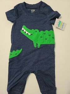 Carter's Child of Mine Blue Alligator Jumper Sizes 0-24 Months New with Tags