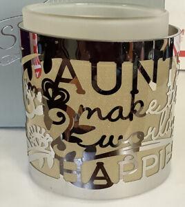 Aunt Pierced Metal Hurricane Candle Holder