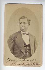 SIGNED CDV ORONHYATEKHA (1841-1907) Mohawk physician Ontario, Canada Six Nations