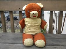 "Antique Large Brown Teddy Bear Approx 25"" Distressed dirty needs loving care"