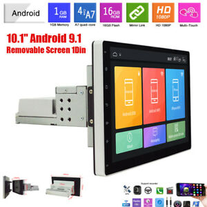 """10.1"""" Removable 1Din Android 9.1 Car Radio MP5 Player GPS WiFi 1GB+16GB"""