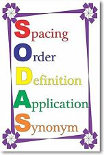 S.O.D.A.S - NEW Classroom Reading and Writing Poster