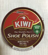 Kiwi Shoe Polish Brown Rich Paste Shine CARNAUBA Wax  Tin 36 g
