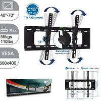 40 TO 70 TILT FLAT TV LED LCD OLED QLED WALL MOUNT BRACKET FOR 60 65 70 INCH