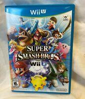 Super Smash Bros. (Nintendo Wii U, 2014) Complete tested nice Video Game Mario