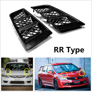 Universal Auto Car Hood Vents Scoop Bonnet Air Vents Air Flow Vent Duct RR Type
