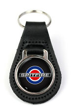 Triumph Spitfire Target Quality Black Leather Keyring