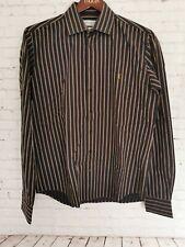 Yves Saint Laurent Shirt Men's Size L Striped  Great Condition