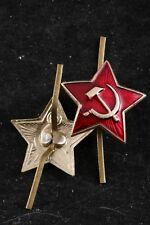 NOS Soviet Pilotka Forage Cap Red Army Hammer Sickle Star Cockade Badge Pin