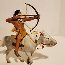 Schleich INDIAN NATIVE AMERICAN WITH  Horse WILD WEST FIGURE Germany 2005 #460