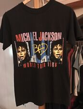 Vintage Michael Jackson T Shirt (Medium 38-40) 1988 Tour Concert Bad Thriller