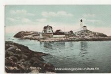White Island Lighthouse Isles of Shoals NH Vintage Postcard USA 403a ^