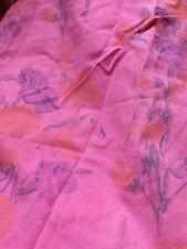 Pair Vintage Pink Over Dyed Laura Ashley Curtains, Lined 100% Cotton, GUC