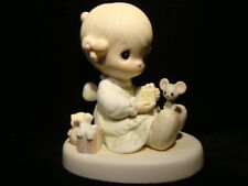 Precious Moments *Signed By Sam* Girl/Mouse/Gift/Cheese-Lo ve Is Kind-With Box