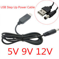 USB 2.1x5.5mm DC 5V to DC 9V/12V Jack Step-up Module Converter Cable