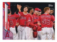 2020 TOPPS MINI PINK PARALLEL #19/25 LOS ANGELES ANGELS TEAM CARD #19