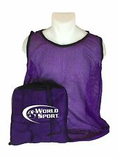 12 Pack Adult purple Blank Scrimmage Vests pinnies bibs by World Sport