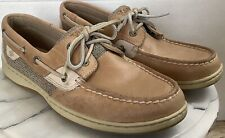Sperry Top-Sider Women Leather/Mesh Boat Shoes Non-Skid Non-Marking 8M Excellent