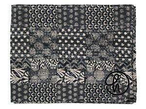 King Size Blanket Black Blanket 100% Cotton Kantha Quilt Bohemian Bedding Gudari
