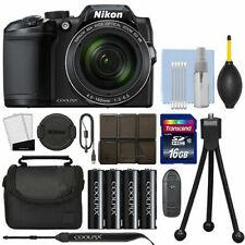 Nikon Coolpix B500 16MP Point and Shoot Digital Camera (Black) with 16GB Kit - NIB500BLACKK4-26506