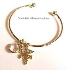 RN Nurse Charm Bracelet Caduceus Nursing Graduation Gift Swarovski Crystal USA
