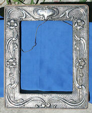 1904 Chester Sterling Silver Repousse Art Nouveau Picture Frame by William Neale