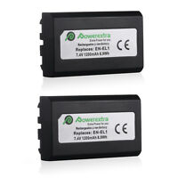 2x 1200mAh EN-EL1 Battery For Nikon Coolpix 4300 4500 5400 5700 775 885 995 E880