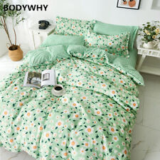2020  Bedding Rustic Style Family Bed Cover Flower Bed Sheet Quilt Pillowcase