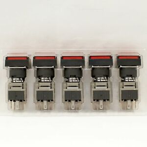 FUJI AH165-TLR11E3 Red Pushbutton Command Switch 24VDC LED (Pack of 5)