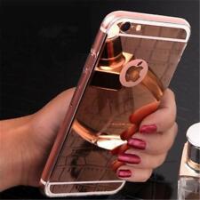 IPhone 4 5 6 7 8 Handy Schutz Hülle Tasche Spiegel Case TPU Silikon Bumper Cover