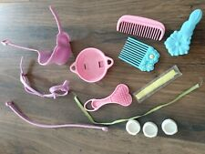 My little pony lot of accessories comb brush ribbons, shoes petit poney kleines