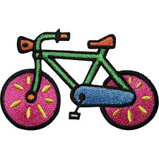 Bicycle Embroidered Iron / Sew on Patch Cycling Bike Clothes Bag T Shirt Badge