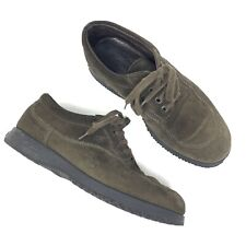 Hogan Suede Olive Green Lace Up  Womens 37.5 /7.5 US made in Italy Trail Walking