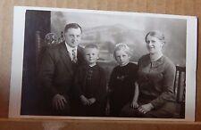 Postcard Family Group adults Children Studio Shot Cute Children unposted 1926