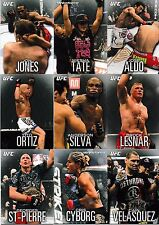 2012 Topps UFC Knockout 100 Card Set Brock Lesnar Anderson Silva Miesha Tate