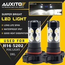2X AUXITO H16 5202 Fog Light 6000K White High Power LED Driving Bulb DRL US EOA