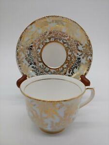 Vintage 1960\u2019s Colclough china pale eggshell blue and pastel violet teacup and saucer