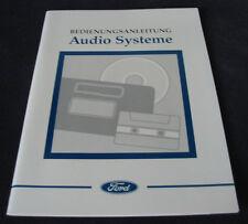 Betriebsanleitung Ford Audio Systeme RDS 1000 3000 Traffic 5000 7000 CD Wechsler