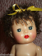 """Curly Poodle Cut Semi-Sweet Color Wig for Muffie or Ginny 7-8""""Dolls & 5-6"""" Head"""