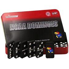 NCAA Kansas Jayhawks Domino Set in Metal Gift Tin