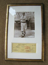 LEFTY O'DOUL AUTOGRAPHED CHECK WITH PHOTO FRAMED JSA