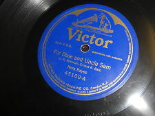 NORA BAYES VICTOR 78 RPM RECORD 45100 FOR DIXIE AND FOR UNCLE SAM/HOMESICK BLUES