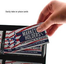 Business Gift Card Holder 6 Pocket Wall Mount Clear & Black Display Rack