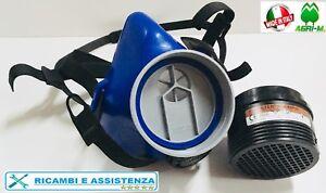 Maschera con filtro A2 P3 DPI Protettiva per agricoltura  polveri  verniciatura